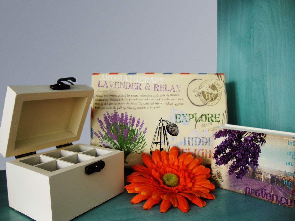 Caja de madera aromaterapia