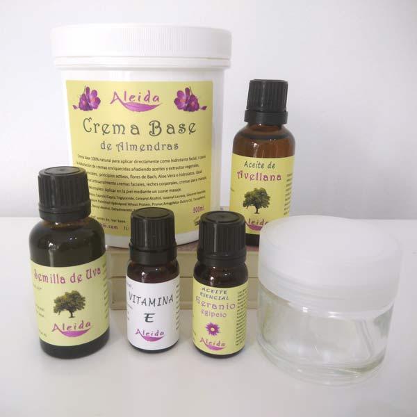 Kit de elaboración crema facial piel mixta