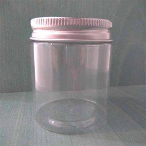 Tarro de plástico con tapa de aluminio 75 mililitros